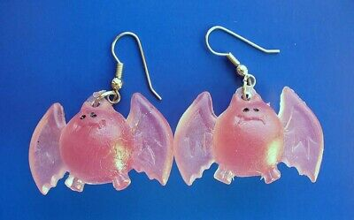 Papel Freelance EARRINGS Halloween Vintage BATS Purple GUMMY GHOULS Dangle