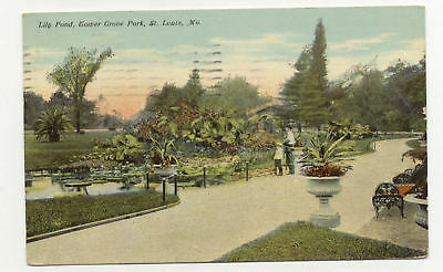 1911 View Lily Pond Tower Grove Park St Louis Mo A5035