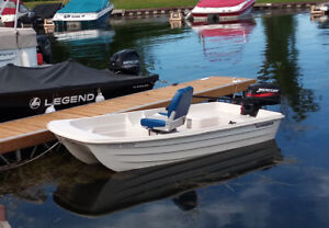 small boat with 4 hp mercury