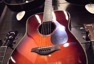 Yamaha FG730SVCS Acoustic Guitar in Vintage Cherry Burst