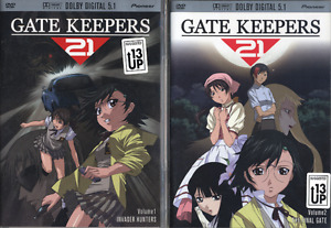 Gate Keepers 21 complete set - NEW - 2 anime volumes