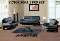 4 PCSCONTEMPORORY COMPACT SIZE SET SOFA LOVE CHAIR & COFFEETABLE