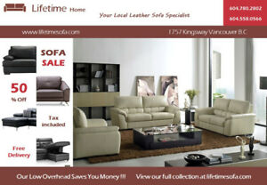 Quality,Comfortable,Fantastic Genuine Leather ( Sofa + Loveseat)