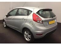 2016 SILVER FORD FIESTA 1.5 TDCI ZETEC 75 DIESEL 5DR HATCH CAR FINANCE FR £29 PW