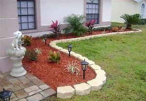 Mulching Flower Bed Repair Pruning Perennials Top Soil Upgrades