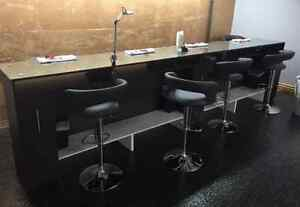 Nail Bar and Chairs, Pedicure Baths, Tables, Etc.