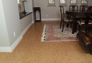 Upgrading Basement - a Warmest Place with Cork Flooring + Cork Underlayment Naturally Repels Moisture Keep Mold Away