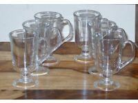 6 x BRAND NEW 120ml IRISH COFFEE GLASSES NEW SHAPE GLASS EVENING DRINK COMPANY..