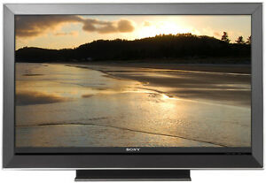 Sony Bravia 52-Inch HDTV with cracked screen