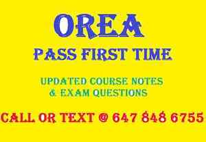 OREA Exam Notes and Exam Questions- $20 Kitchener / Waterloo Kitchener Area image 1