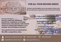 MOVERS FOR SHORT NOTICE, LONG DISTANCE, MONTH END..905-999-3447