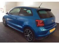 2017 BLUE VW POLO 1.8 TSI GTI 190 PETROL 3DR MANUAL HATCH CAR FINANCE FR £46 PW