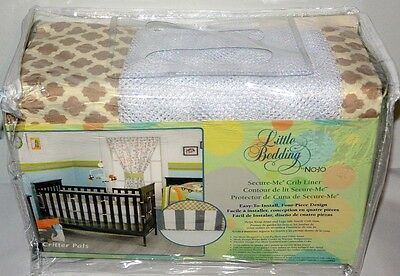 Little Bedding by NoJo Critter Pals Animal Print Secure-Me Mesh Crib Liner, -