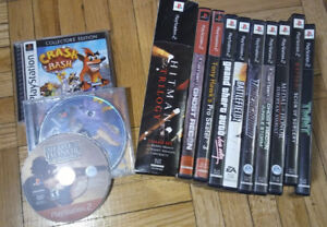 Playstation 1, 2 and PSP games