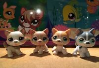 LPS LITTLEST PET SHOP LOT DE 4 CHIENS HUSKY