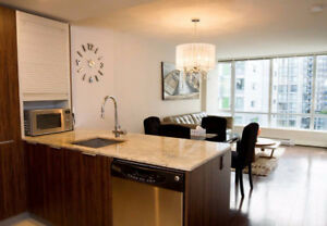 Heart of Yaletown/Downtown,Spacious & Stylish 1BR+DEN, FURNISHED