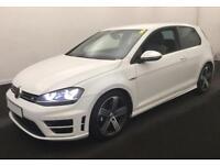 2014 WHITE VW GOLF R 2.0 TSI 300 4X4 PETROL MAN 3DR HATCH CAR FINANCE FR £62 PW