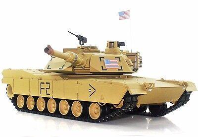 2.4Ghz 1/16 US M1A2 Abrams RC Tank Upgrade Super Metal w/Smoke & Sound RTR