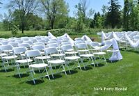 PARTY RENTAL { Chairs, Tables, Chafing Dish, TableCloths}