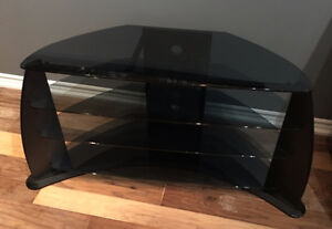 Black TV Stand w/ Charcoal Coloured Glass / $75 OBO