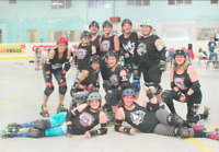 Fun activity - low contact roller derby meets weekly