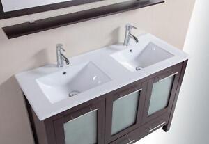 NEW VICTORIA 48E BATHROOM VANITY DOUBLE SINKS $899