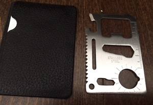New 11 in 1 credit card size tool kit