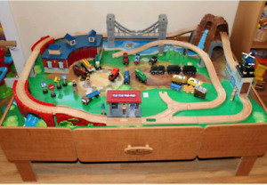 Train Table (Imaginarium) with trains, etc
