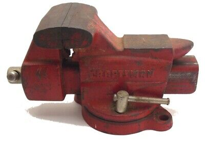 Craftsman Bench Rotating Swivel 3 12 Jaw Anvil Pipe Vise No 391.5180 Used