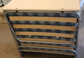 Single Fold Away Bed with Mattress