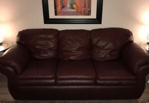 Genuine Leather Sofa and Chair