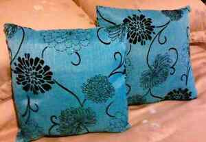 Two Toss Cushions with zippers (size 16 X 16)