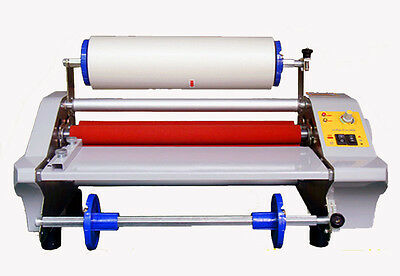 360mm Four Rollers Eight Bearings Hot And Cold Roll Laminating Machine 110v
