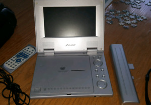 Portable DVD player with case for car