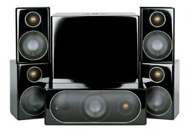 NEW IN BOX MONITOR AUDIO R90HD10 5.1 SYSTEM CINEMA SURROUND SOUND ONO