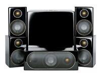 NEW IN BOX MONITOR AUDIO R90HD10 5.1 SYSTEM CINEMA SURROUND SOUND ONO