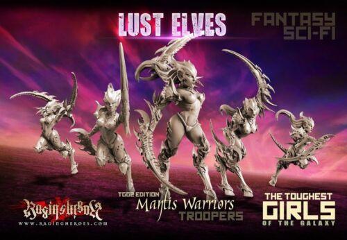 Raging Heroes Lust Elves Mantis Warriors Troops Female Daemons 28mm
