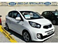 2014 63 KIA PICANTO 1.0 1 3D 68 BHP * WHITE * IDEAL FIRST CAR * FREE TAX *