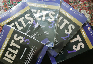 brand new Ielts cambridge english book (1 to 5)      20 dollars