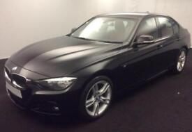 2015 BLACK BMW 330D 3.0 M SPORT DIESEL AUTO 4DR SALOON CAR FINANCE FR £75 PW