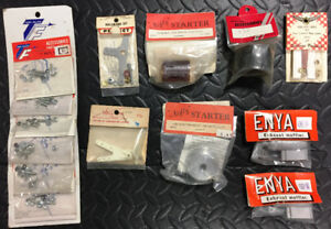 Vintage RC Helicopter Airplane NIP Parts Lot Eflite Enya Nifty