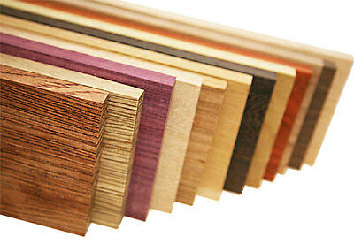 10lbs of Exotic Hardwood Lumber Variety Pack