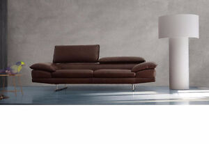 Sofa Cuir num1 Bonded Couleur blanc/Couch Bonded Leather white
