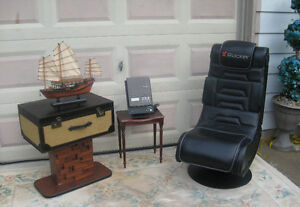 Leather lounge Chair/rocker (stereo)
