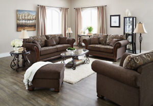 Two brand new 3-seater fabric sofas, for $1200 (price negot.)