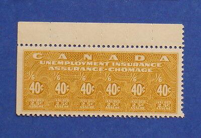 1941 40C Canada Unemployment Insurance Revenue Vd   Fu4 B   4 Unused     Cs15995