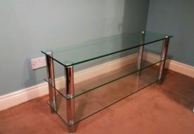Glass TV table - 3shelf