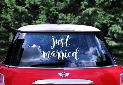Hochzeiautotsaufkleber JUST MARRIED Autosticker Hochzeitsauto Brautauto Deko NEU