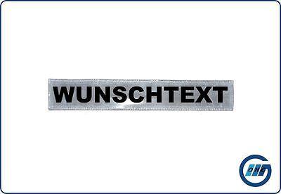 Rückenschild DRK Rettungsdienst WUNSCHTEXT mit Klett 30 x 5cm weiß