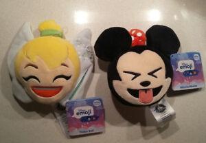 "Disney store 4"" Tinkerbell & Minnie mouse Emoji plush"